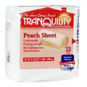 Tranquility Peach Sheet Underpad - Maximum Absorbency