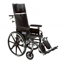 Drive Viper Plus LIGHT WEIGHT RECLINING Wheelchair with Elevating Leg rest and Flip Back Arms