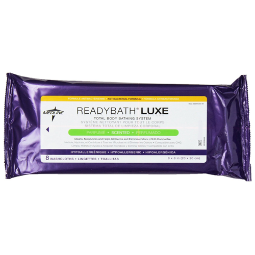 ReadyBath LUXE Total Body Washcloths - Scented