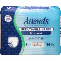 Attends Overnight Breathable Briefs BRNT30