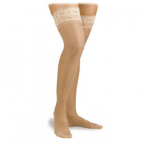 Activa Sheer Therapy Thigh High Compression Socks Silicone Lace Top