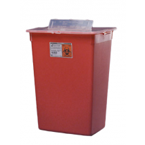 10 Gallon Red Sharps-A-Gator Sharps Container with Slide Lid 31143665
