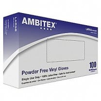 Tradex Ambitex V5201 Series Latex Free Clear Vinyl Gloves