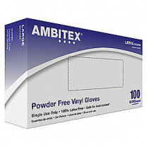 Tradex Ambitex V5201 Series Latex Free Clear Vinyl Gloves