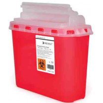 5.4 Quart Red Sharps Container with Horizontal Entry Lid 2269