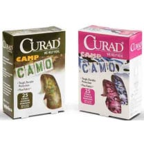CURAD Camo Fabric Adhesive Strips, Latex Free