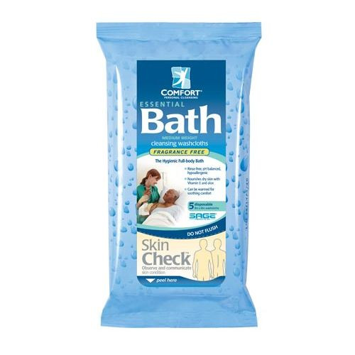 Essential Bath Cleansing Washcloths - Scented & Unscented