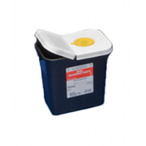1.5 Quart Black SharpSafety Waste Container with Screw Cap 8601RC