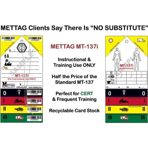 METTAG Medical Emergency Triage Tags