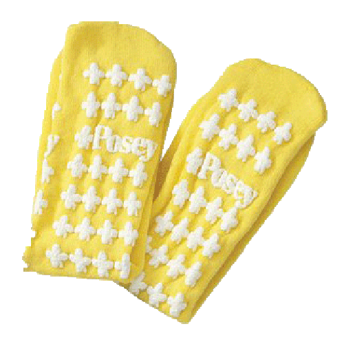 Posey 6239L or LY Non-Skin Socks -Yellow