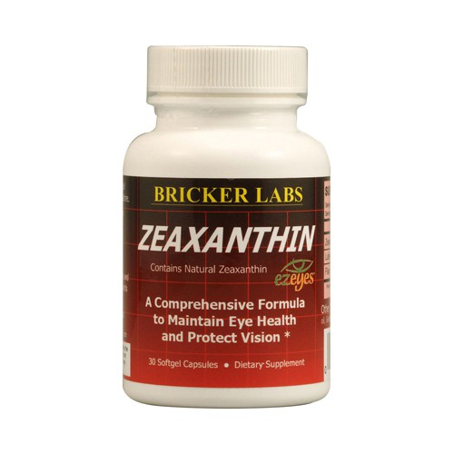 Bricker Labs Zeaxanthin with Lutein for Optimal Eye Health Natural Dietary Supplement