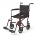 Aluminum Transport Chair Red