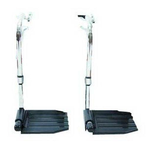 Economy Hemi Footrest without Heel Loop Composite Footplate