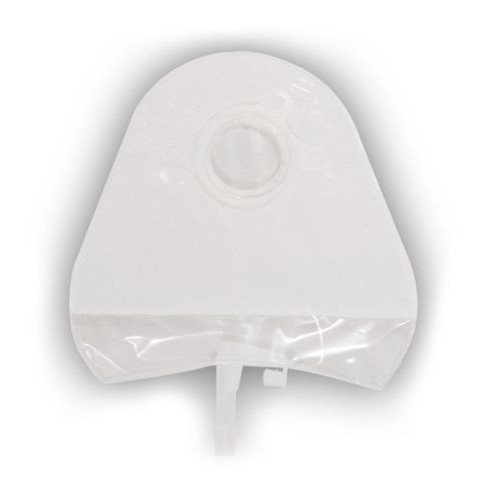 Little Ones Two-Piece Standard Urostomy Pouch Transparent with 1-Sided Comfort Panel