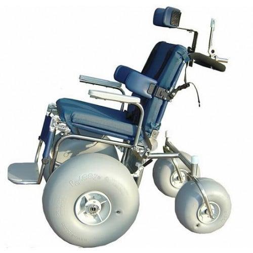 316 L Stainless Steel Fixed Legrest Beach WheelChair