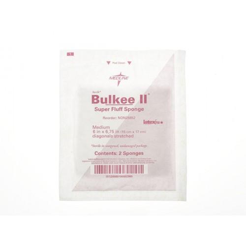 Bulkee 6 x 6.75 Inch Super Fluff Sponge 6 Ply, Sterile, Pack of 2