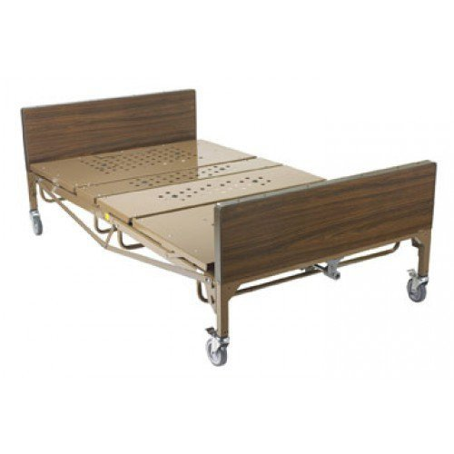 Bariatric 48 Inch Wide Full Electric Heavy Duty Hospital Bed, 750 Pound Capacity
