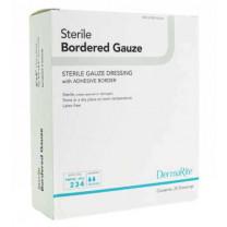 Sterile Bordered Gauze Dressing with Adhesive Border