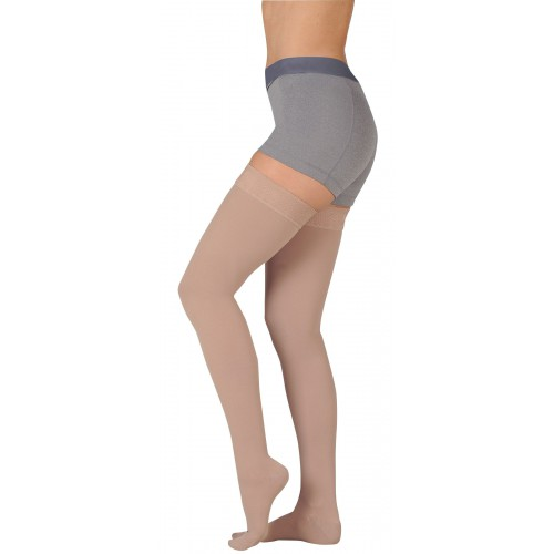 Juzo 3512NNAG Dynamic Neuropathic Unisex Thigh High Compression Stockings with Silicone Top Band 30-40 mmHg