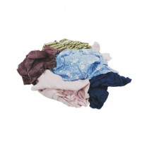 Recycled Colored T-shirt Rags, Mixed Colors