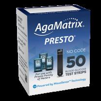 AgaMatrix Presto Test Strips Box of 50 - 8000-03329