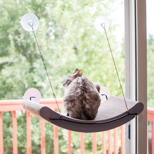EZ Mount Cat Scratcher Kitty Sill Cradle