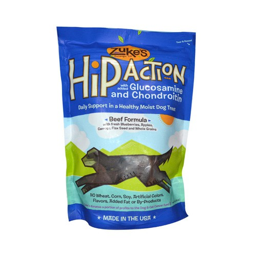 Zuke's Hip Action Daily Hip and Joint Support Treat For Dogs Beef