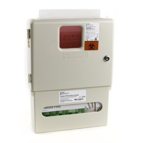 Wall Cabinet with Glove Box for Prevent Sharps Disposal Containers