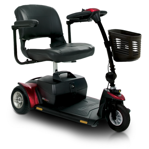 Pride Mobility Go-Go Elite Traveller Plus 3-Wheel Scooter Red or Blue