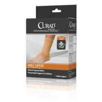 CURAD Elastic Open Heel Ankle Support