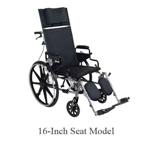 Viper Plus Full Reclining Steel Wheelchair
