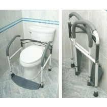 Portable Folding and Adjustable Safety Toilet Frame