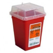 1 Quart Red Stackable Sharps Container 8702