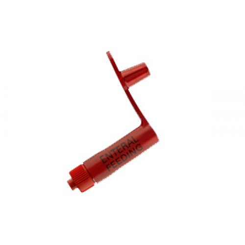 Red Enteral Feeding Adapter