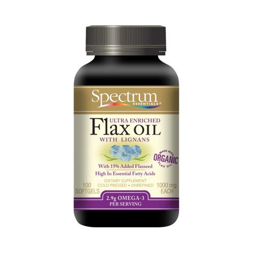 Spectrum Essentials Organic Ultra Enriched Flax Oil with Lignans