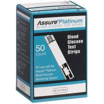 Assure Platinum Blood Glucose Test Strips 50/Box - 500050