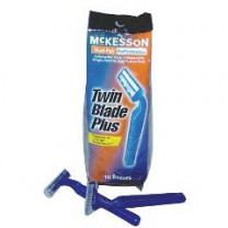 Twin Blade Disposable Razors with Lubricated Strip