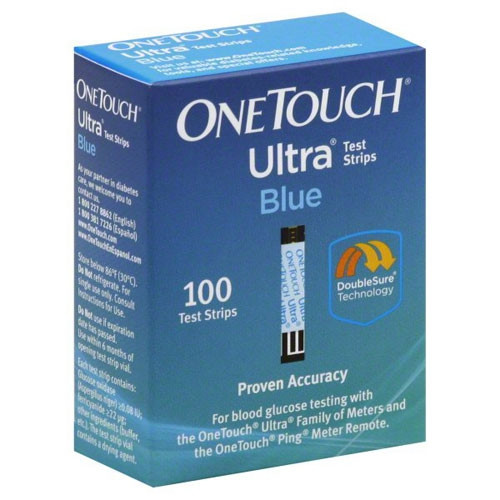 One Touch Ultra Blue Test Strips Box of 50 - 20244
