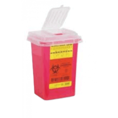 1 Quart Red BD Sharps Container Small Open Top 305635