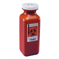 1.5 Quart Red SharpSafety Transportable Sharps Container with Screw Cap 8909