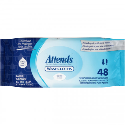 Attends Washcloths - Unscented