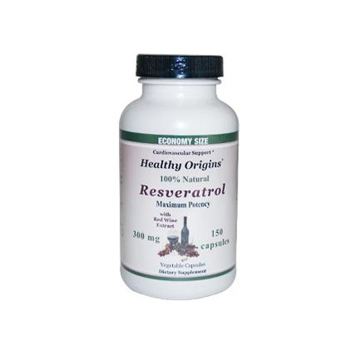 Healthy Origins Natural Resveratrol 300 mg Dietary Supplement