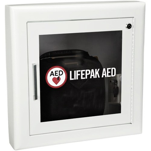 Semi Recessed AED Cabinet With Alarm   Physio Control 11998 000292 |  Vitality Medical