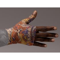 LympheDivas Lotus Dragon Tattoo Compression Gauntlet 20-30 mmHg