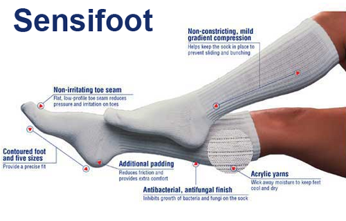 c89c76d12 Jobst SensiFoot Unisex Knee High Diabetic Mild Compression Socks 8 ...
