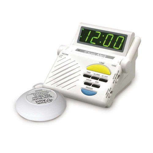 Sonic Alert SB1000SS Sonic Boom Vibrating Alarm Clock