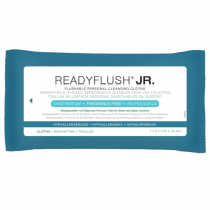 ReadyFlush Jr Personal Cleansing Flushable Cloths - Fragrance Free