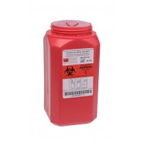 1.5 Quart Red Sharps Container with Locking Top WD-150
