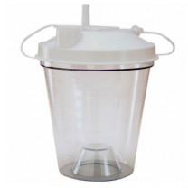 Disposable Canister 800cc Disposable Suction Canister w/ Float Valve Shut-Off Lid
