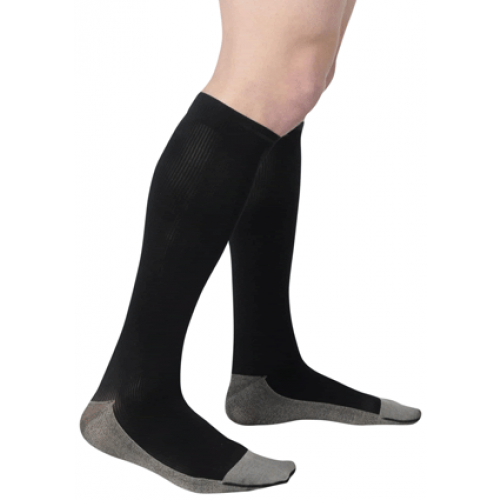 Juzo II00II Soft Ribbed Silver Sole Knee High Compression Socks III0-IV0 mmHg